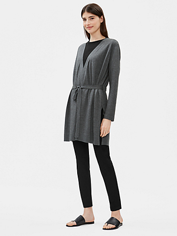 Tencel Organic Cotton Silk Belted Cardigan