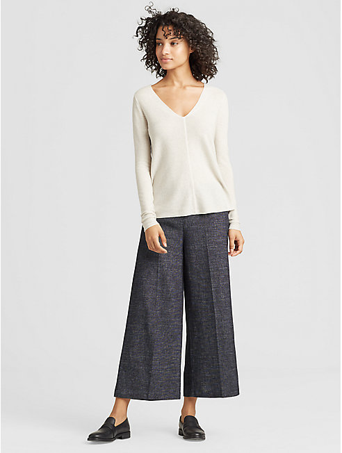 Tweedy Organic Cotton Hemp Wide-Leg Pant