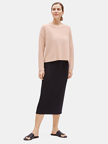 Sleek Tencel Round Neck Top