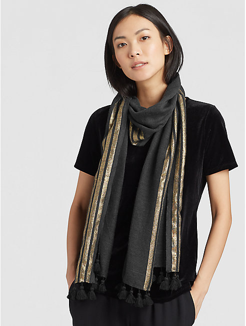 Shimmer Wool Scarf