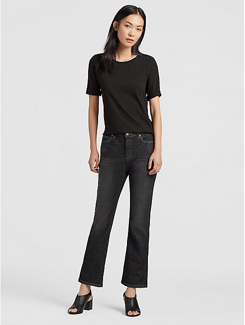 Organic Cotton High-Waisted Boot-Cut Jean