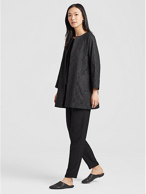 Shimmer Jacquard 3/4-Sleeve Jacket