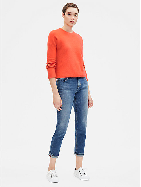 Cashmere Silk Crew Neck Top