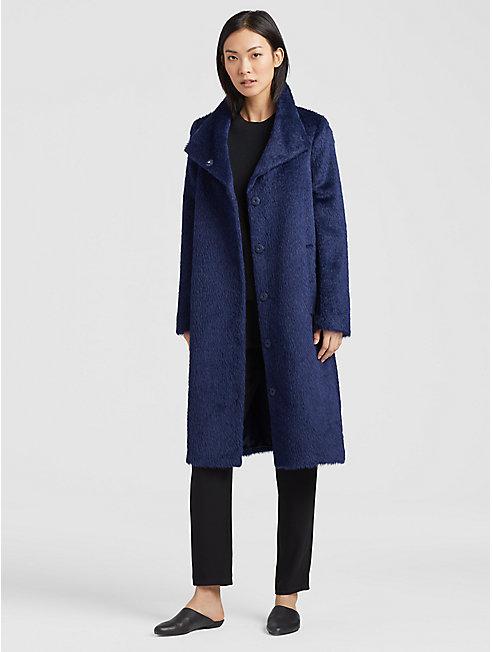 Furry Alpaca Coat