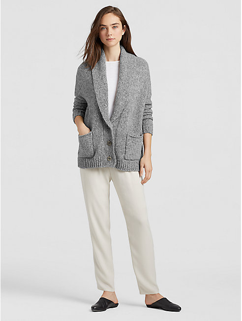 Alpaca Organic Cotton Shawl Collar Cardigan