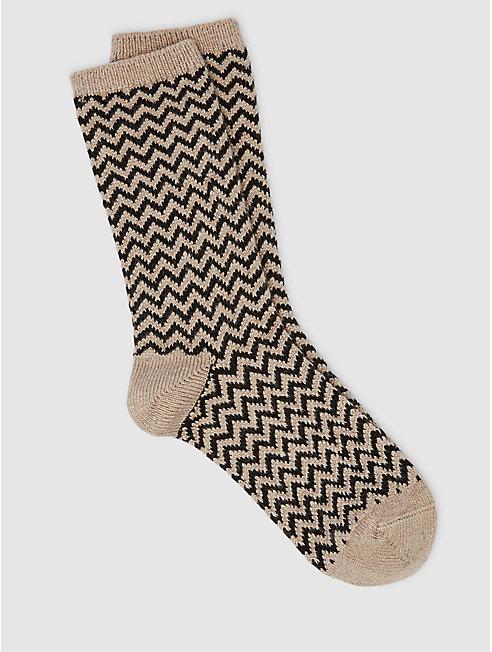 Cozy Viscose Cashmere Chevron Sock