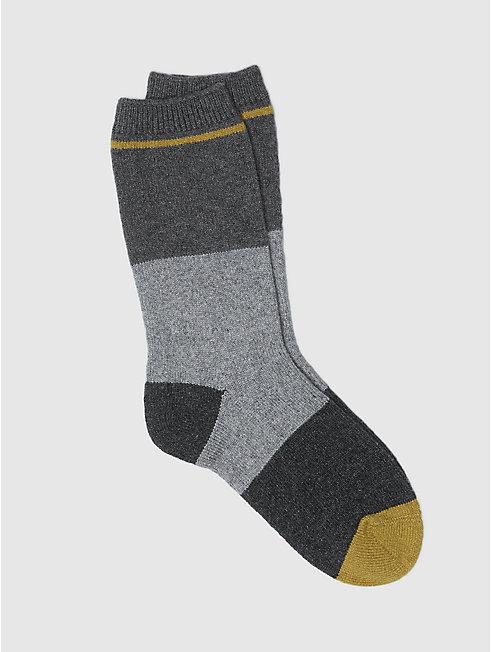 Cozy Viscose Cashmere Colorblock Sock