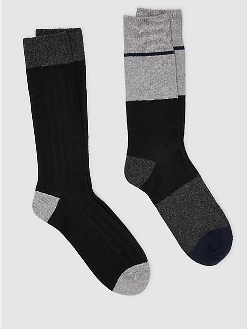 Cozy Viscose Cashmere Men's Colorblock Sock