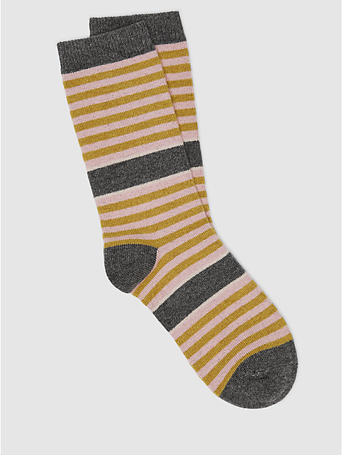Cozy Viscose Cashmere Stripe Sock
