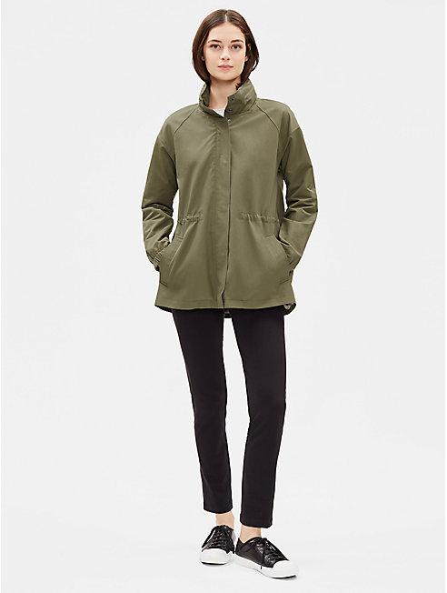 Organic Cotton Nylon Jacket with Hood