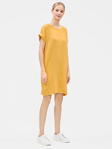 Organic Cotton Gauze Shift Dress