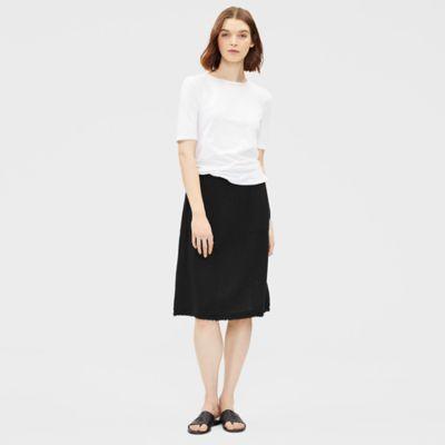 Organic Cotton Gauze A-Line Skirt