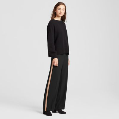 Silk Georgette Crepe Racing Stripe Pant
