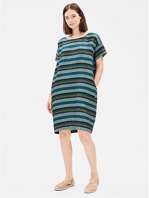 Organic Linen Striped Dress