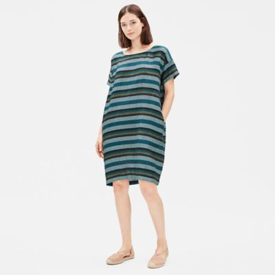 Organic Linen Striped Dress