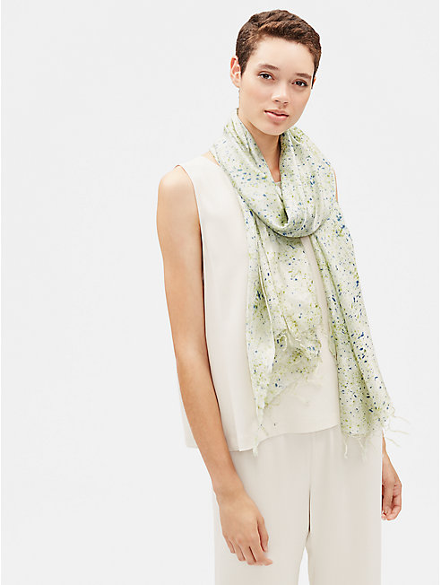 Natural-Dyed Silk Scarf
