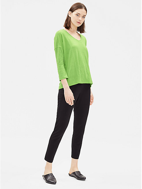 Organic Linen 3/4-Sleeve Box-Top