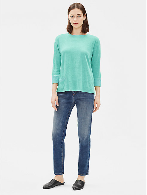 Organic Linen Top with Pocket