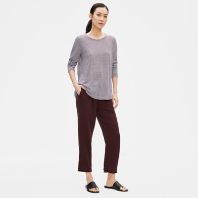 Organic Linen Jersey Striped Top