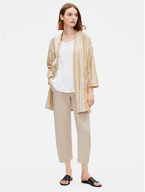 Striped Organic Cotton Kimono Jacket