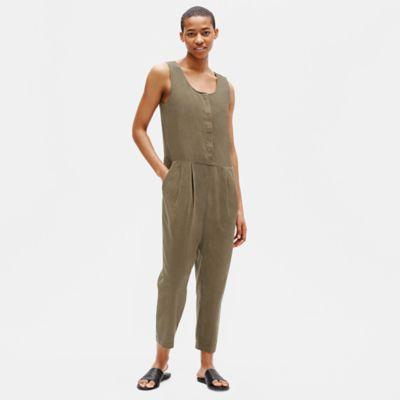 Organic Cotton Crepe Jumpsuit
