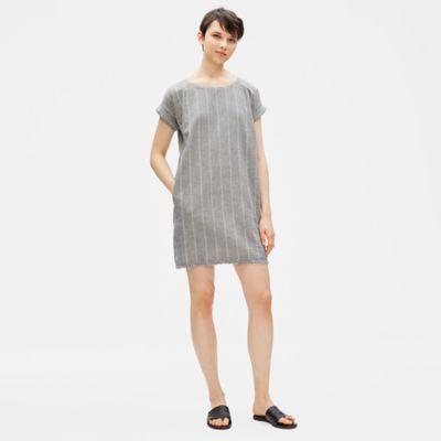 Organic Cotton Hemp Striped Shift Dress