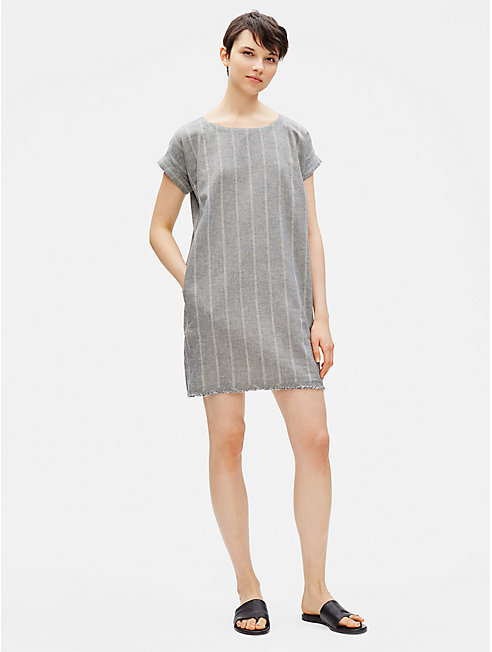 Organic Cotton Hemp Striped Shift Dress