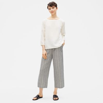 Organic Cotton Hemp Striped Pant