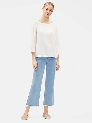 Organic Cotton Stretch Raw-Edge Jean