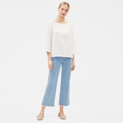 Organic Cotton Stretch Raw-Edge Jean