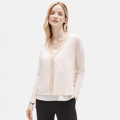 Organic Linen V-Neck Cardigan
