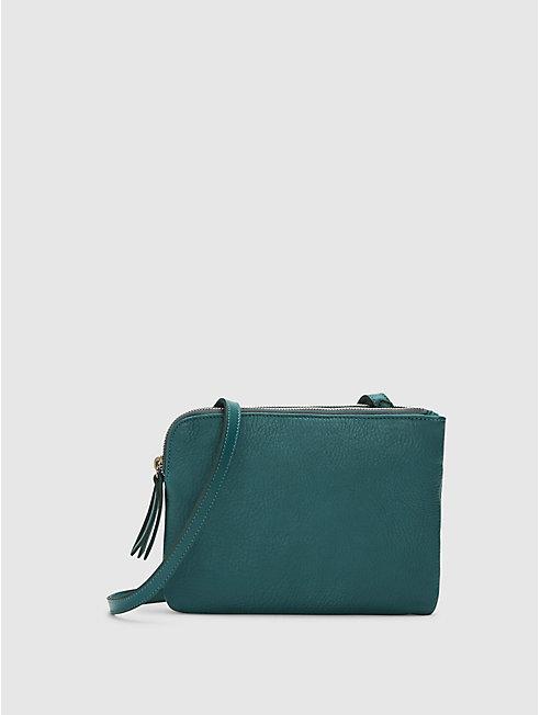 Grainy Italian Leather Shoulder Bag