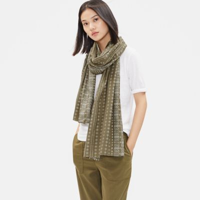 Printed Organic Cotton Silk Scarf