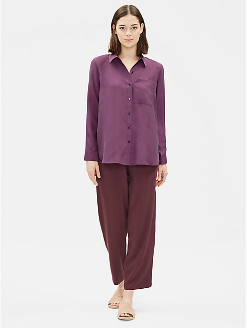 Washed Silk Habutai Shirt