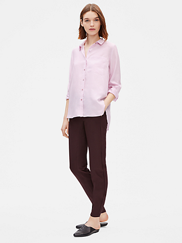 Washed Silk Habutai Shirt