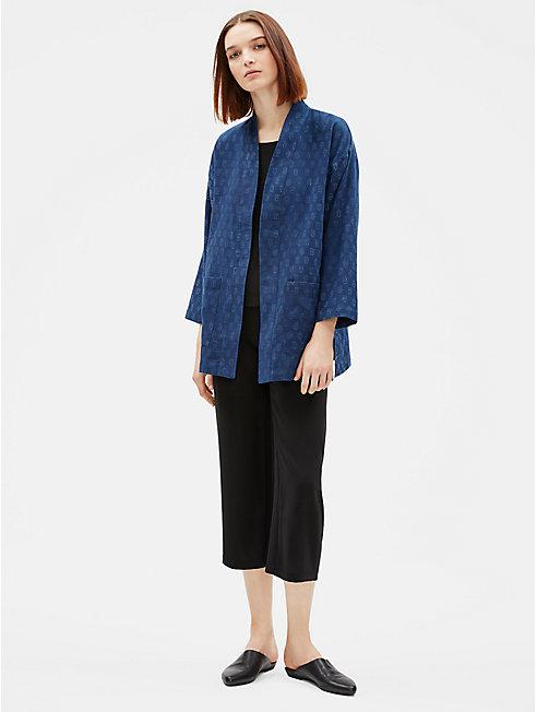 Artisanal Organic Cotton Kimono Jacket