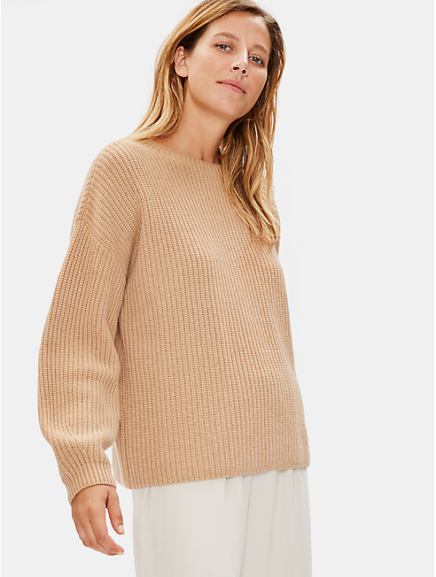 Italian Cashmere Ribbed Top