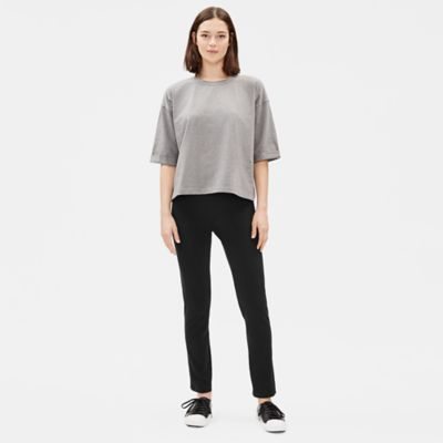 Organic Cotton Stretch Slim Pant with Side Vents