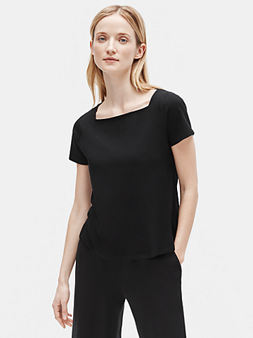 Organic Cotton Stretch Square Neck Tee