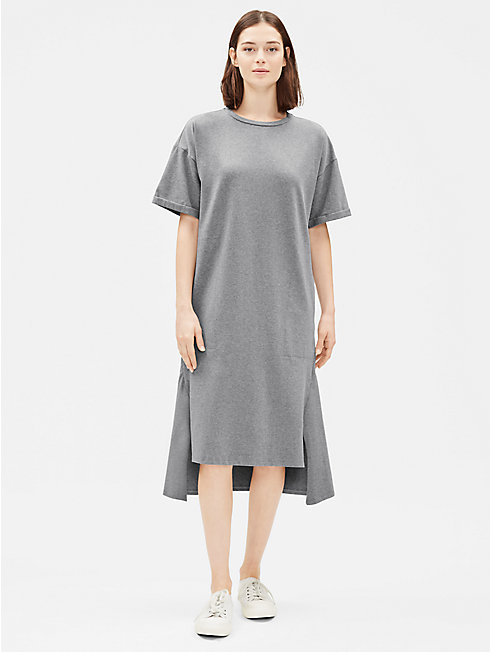 Heathered Organic Cotton Short-Sleeve Dress