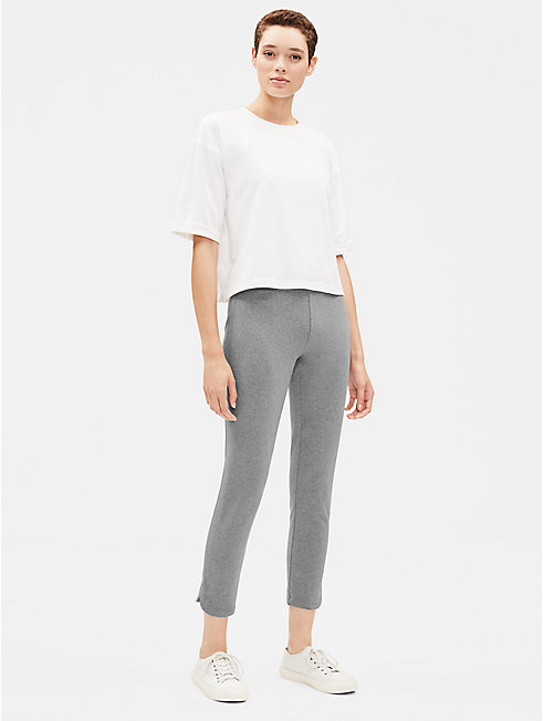 Heathered Organic Cotton Slim Pant