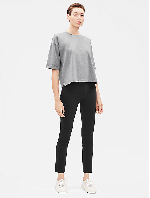 Heathered Organic Cotton Elbow-Sleeve Top