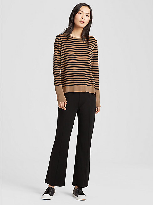 Tencel Silk Striped Top