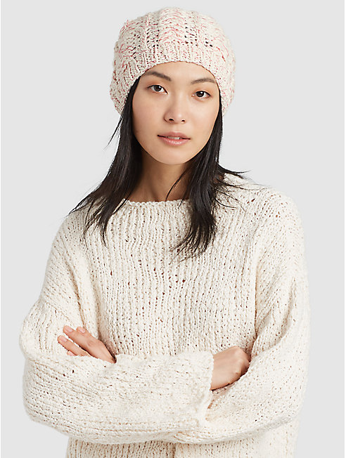 Peruvian Organic Cotton Twist Pompom Hat
