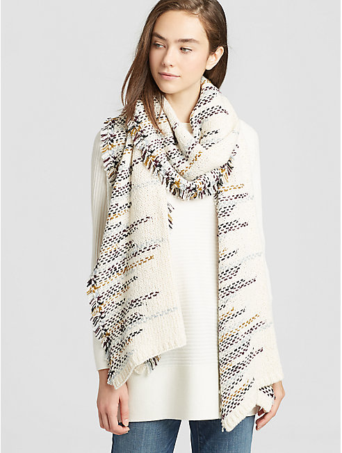 Peruvian Organic Cotton Fringed Scarf