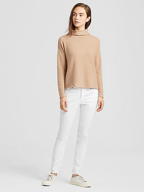105bedcb58ac24 Lofty Recycled Cashmere Box-Top | EILEEN FISHER