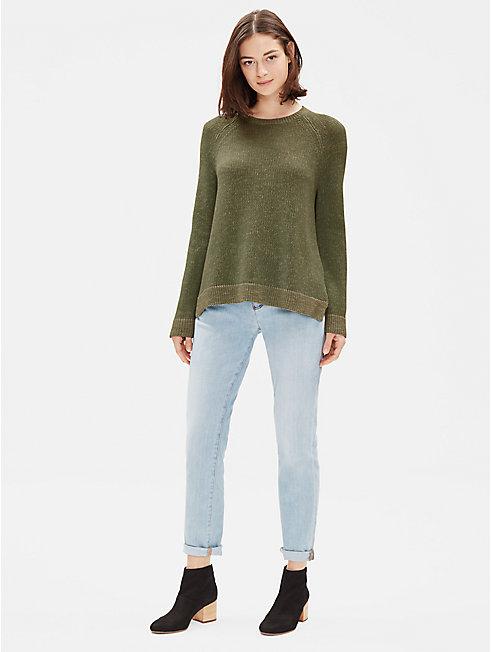 Organic Linen Cotton Slub Top