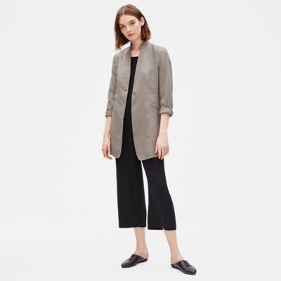 Organic Linen Long Jacket