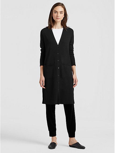 Luxe Merino Stretch Long Cardigan