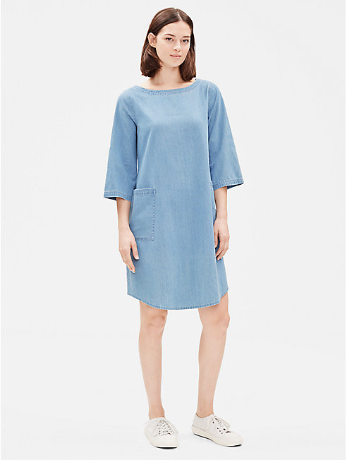 Organic Cotton Drapey Denim Dress